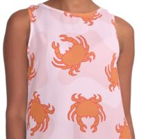 Crab Pattern Contrast Tank