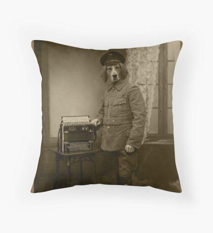 Old War Dog Throw Pillow