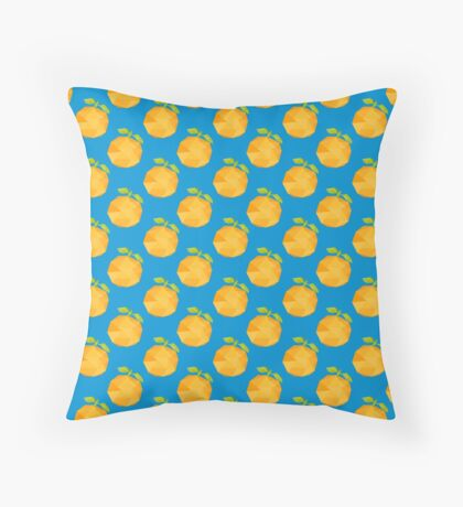Polygon Peaches Abstract Pattern Throw Pillow