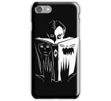 black and white book iPhone Case/Skin