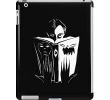 black and white book iPad Case/Skin