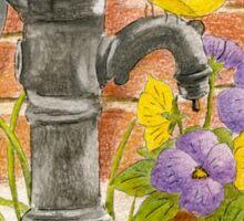 Spring flowers and waterpump Sticker