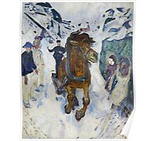 Edvard Munch - Galloping Horse. Munch  Poster
