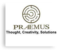 Praemus Logo and Slogan Canvas Print