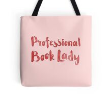 professional book lady in red watercolor Tote Bag