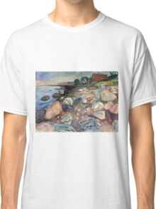 Edvard Munch - Shore With Red House. Munch - seashore landscape. Classic T-Shirt