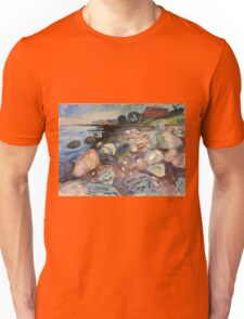 Edvard Munch - Shore With Red House. Munch - seashore landscape. Unisex T-Shirt