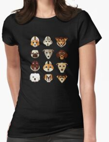 Dog pattern Womens Fitted T-Shirt