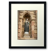 Saint With a Skull Framed Print