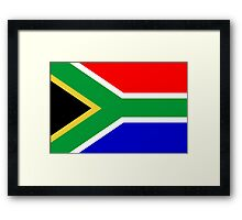 South Africa, South African Flag, AFRICA, AFRICAN, Flag, Republic of South Africa Framed Print