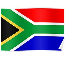 South Africa, South African Flag, AFRICA, AFRICAN, Flag, Republic of South Africa Poster