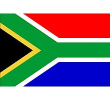 South Africa, South African Flag, AFRICA, AFRICAN, Flag, Republic of South Africa Photographic Print