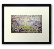 Edvard Munch - The Sun. Munch - sea landscape. Framed Print