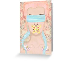 Do not speak of evils you are blind to Greeting Card