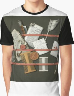 Edwaert Collier  - STill Life A Letter Rack.  Collier  - still life with  Letter. Graphic T-Shirt