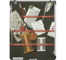 Edwaert Collier  - STill Life A Letter Rack.  Collier  - still life with  Letter. iPad Case/Skin