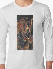 Edward Burne-Jones  - King Cophetua And The Beggar Maid 1884. Burne-Jones  - people portrait. Long Sleeve T-Shirt