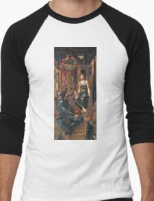 Edward Burne-Jones  - King Cophetua And The Beggar Maid 1884. Burne-Jones  - people portrait. Men's Baseball ¾ T-Shirt