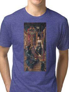 Edward Burne-Jones  - King Cophetua And The Beggar Maid 1884. Burne-Jones  - people portrait. Tri-blend T-Shirt
