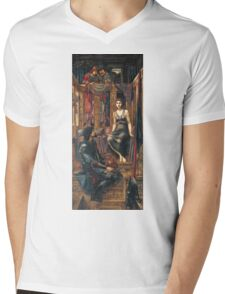 Edward Burne-Jones  - King Cophetua And The Beggar Maid 1884. Burne-Jones  - people portrait. Mens V-Neck T-Shirt
