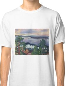 Edvard Munch - Train Smoke. Munch - lake landscape. Classic T-Shirt
