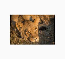 Close-up of sleepy lion staring at camera Unisex T-Shirt