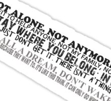 Cloud Strife Quote Sticker