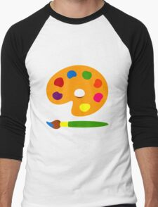 Colorful Paint Palette Men's Baseball ¾ T-Shirt
