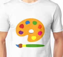 Colorful Paint Palette Unisex T-Shirt