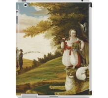 Edward Hicks - A Peaceable Kingdom With Quakers Bearing Banners. Hicks - animals. iPad Case/Skin