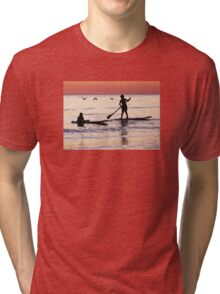 Child Art - Magical Sunset Tri-blend T-Shirt