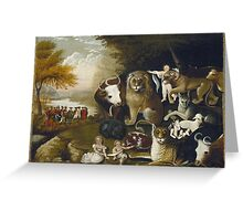 Edward Hicks - The Peaceable Kingdom. Hicks  Greeting Card