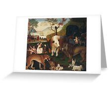 Edward Hicks - The Peaceable Kingdom 1868. Hicks Greeting Card