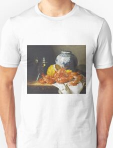 Edward Ladell - Shrimps, A Peeled Lemon, A Glass Of Wine. Edward Ladell - still life with fruits and glass of wine. Unisex T-Shirt