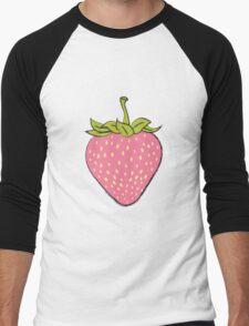 Chalkboard Strawberry Men's Baseball ¾ T-Shirt