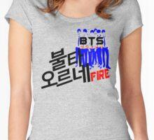 ♥♫Fire BTS-Bangtan Boys K-Pop Clothes & Phone/iPad/Laptop/MackBook Cases/Skins & Bags & Home Decor & Stationary & Mugs♪♥ Women's Fitted Scoop T-Shirt