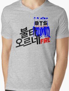 ♥♫Fire BTS-Bangtan Boys K-Pop Clothes & Phone/iPad/Laptop/MackBook Cases/Skins & Bags & Home Decor & Stationary & Mugs♪♥ Mens V-Neck T-Shirt