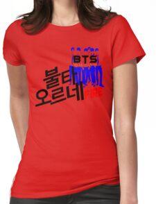 ♥♫Fire BTS-Bangtan Boys K-Pop Clothes & Phone/iPad/Laptop/MackBook Cases/Skins & Bags & Home Decor & Stationary & Mugs♪♥ Womens Fitted T-Shirt