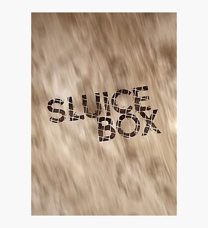 Sluice Box Photographic Print