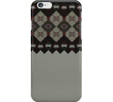 Knitted space invaders ugly sweater iPhone Case/Skin