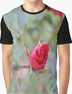 Red rose bud Graphic T-Shirt