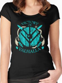 victory or valhalla - shieldmaiden - 2 Women's Fitted Scoop T-Shirt