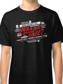 Who Ya Gonna Call? Ghostbusters! Classic T-Shirt
