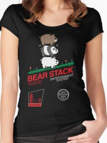 Bear Stack Women's Fitted Scoop T-Shirt