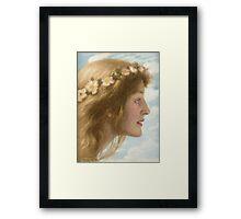 Edward Robert Hughes - Day.  Robert Hughes - woman portrait. Framed Print
