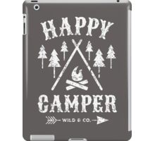 Happy Camper distressed white iPad Case/Skin