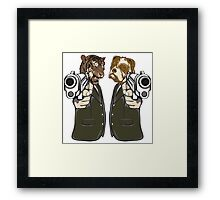 Pulp Fiction - Tiger and Dog Framed Print