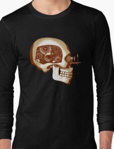 Steampunk Automaton Skull #1C Long Sleeve T-Shirt