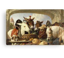 Edwin Landseer - A Group Of Animals, Geneva 1851.  Landseer  Canvas Print