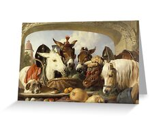 Edwin Landseer - A Group Of Animals, Geneva 1851.  Landseer  Greeting Card